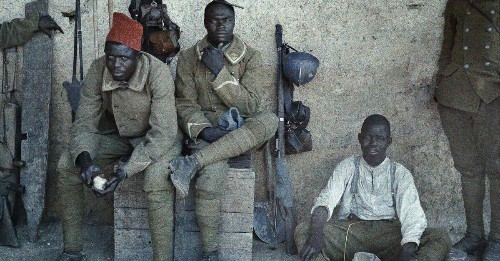 Rare color photos of the men who fought World War I