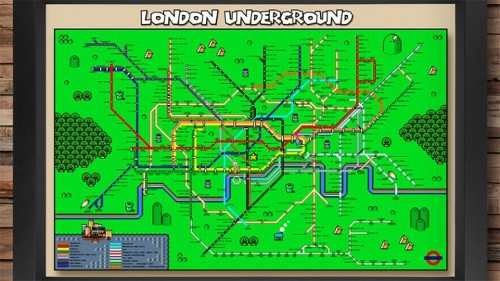 This Super Mario map of the London Underground is every Nintendo-lover's dream