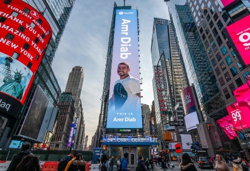 Amr Diab puts Arabic music in the spotlight in NYC's Times Square