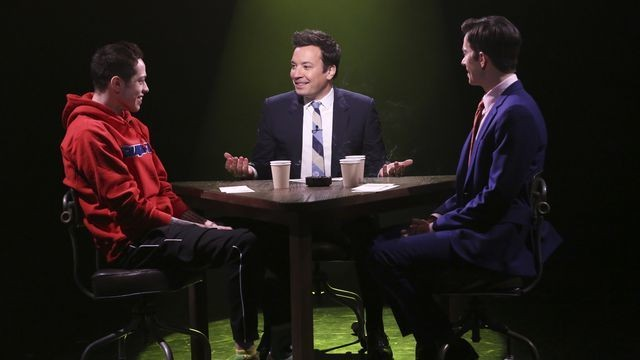 Was John Mulaney's neighbor a cannibal? Pete Davidson and Jimmy Fallon try to guess.