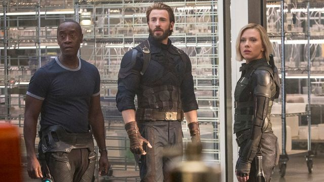 We just saw the Chris Evans 'Infinity War' poster and honestly our whole team gasped