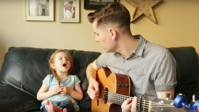 Watch this super cute 4-year-old sing 'You've Got a Friend In Me' with her dad