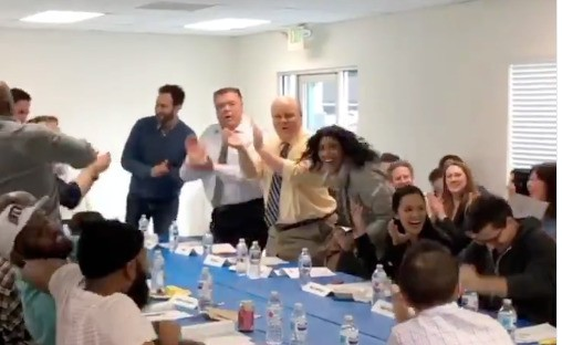 There's footage of the exact moment when the 'Brooklyn Nine-Nine' cast is told Season 7 is happening