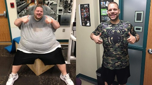 Man shakes off 400 pounds with the help of a former teacher and Taylor Swift