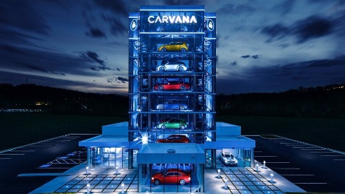 Pick up your used car at Carvana's newest car-sized vending machine