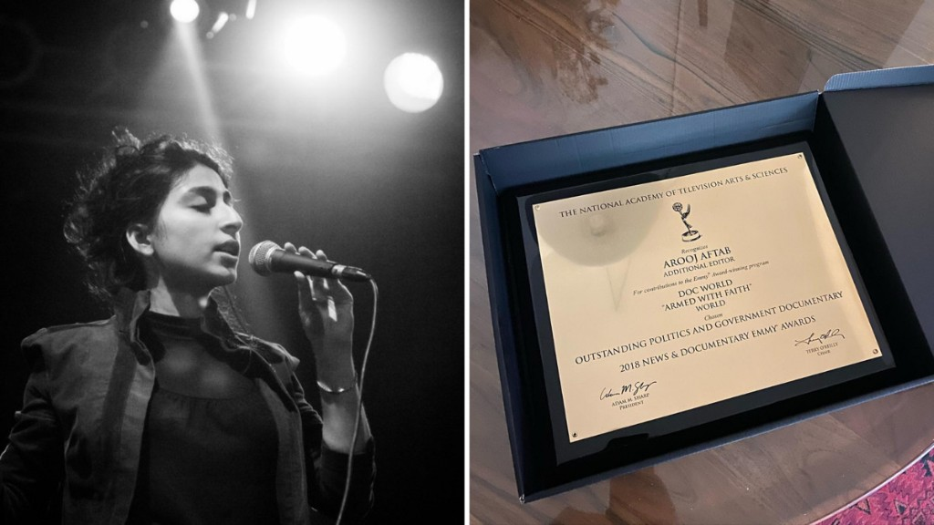 Arooj Aftab receives her 2018 News and Documentary Emmy Award