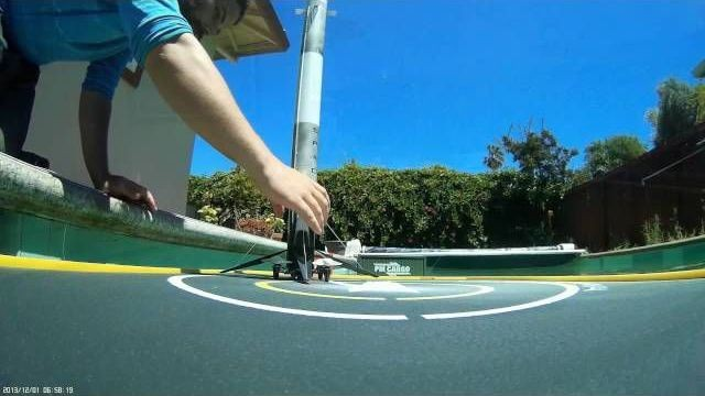 SpaceX fan builds mini Falcon 9 rocket with a drone, lands it in a pool