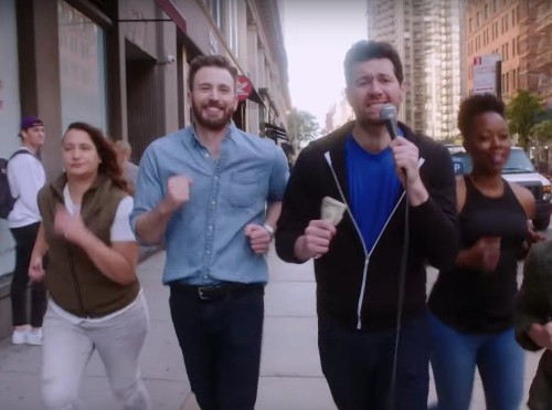 Chris Evans Joined 'Billy On The Street' To Rally A Posse Of Lesbians