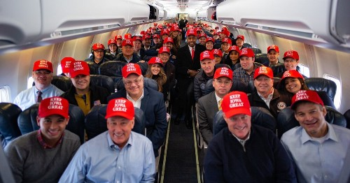 Team Trump's red-hat, post-Iowa photo is getting roasted