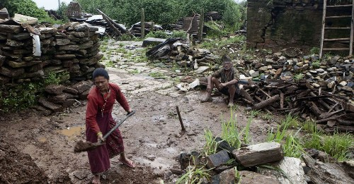 Earthquake-destroyed villages in Nepal struggle to rebuild