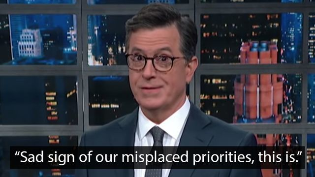Stephen Colbert roasts the Democratic candidates with Baby Yoda burns