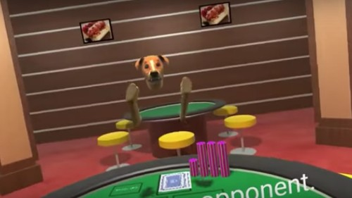 Google uses dogs playing poker to combat harassment in virtual reality