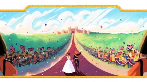 Google celebrates Meghan and Harry's wedding with stunning Doodle