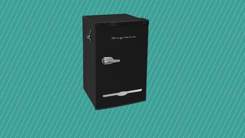 The Frigidare retro mini fridge is $50 off at Walmart