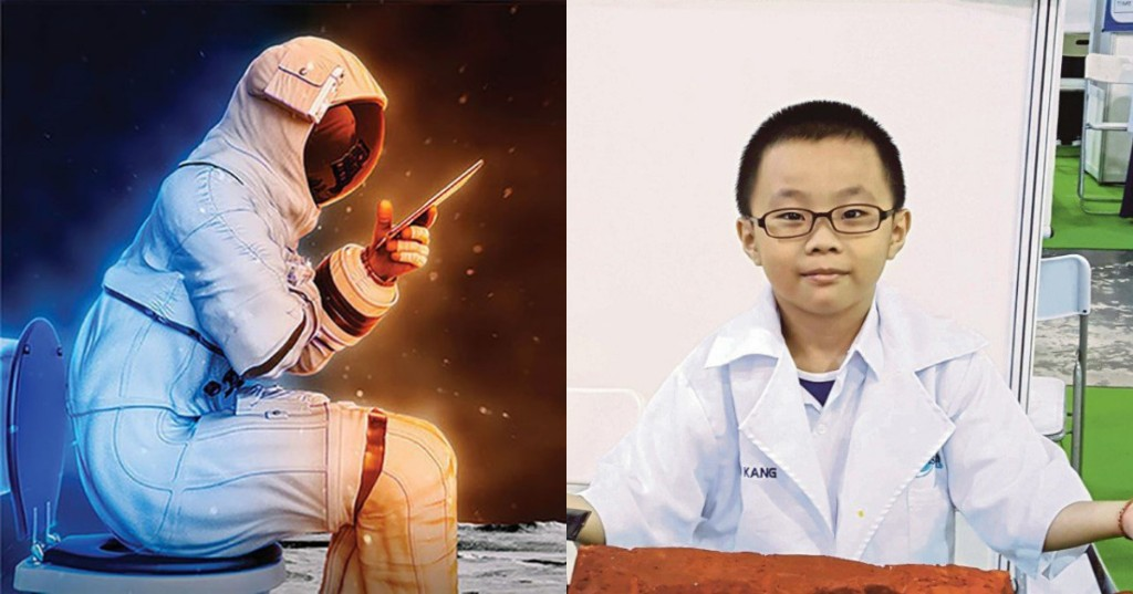 9-year-old Malaysian invents spacesuit toilet so astronauts can pee in peace