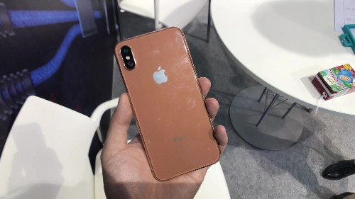 We just fondled the crap out of a fake copper gold iPhone 8