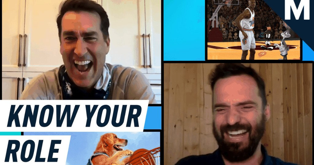 Rob Riggle and Jake Johnson test their basketball movie knowledge