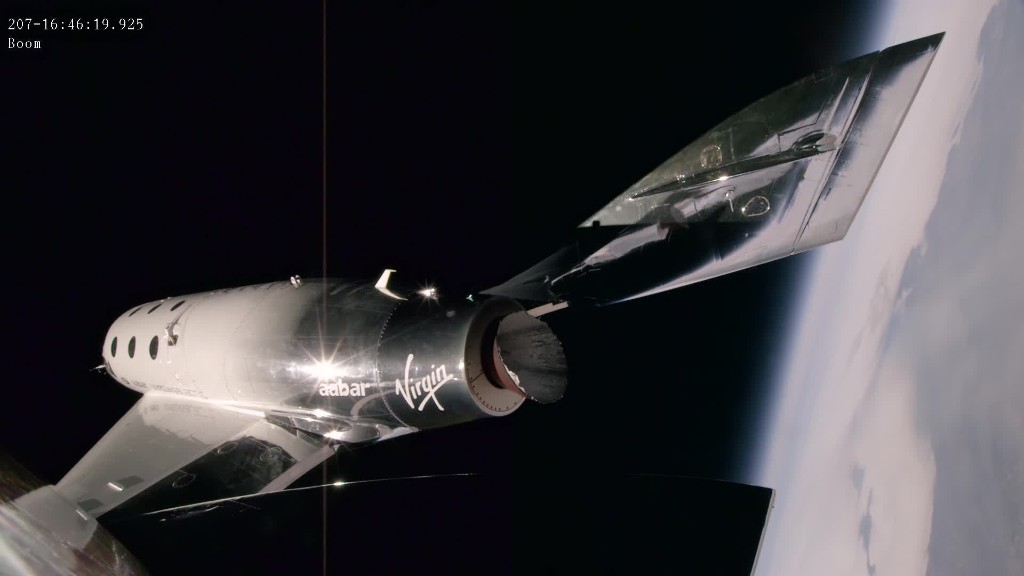 Watch as an amazed Virgin Galactic pilot touches the edge of space in new video