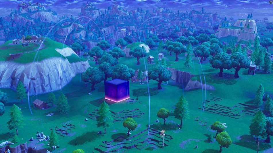 That big purple cube in 'Fortnite' just exploded and everything's weird now