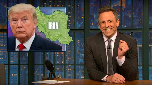 Seth Meyers breaks down how Trump's copying from George W. Bush's Iraq playbook