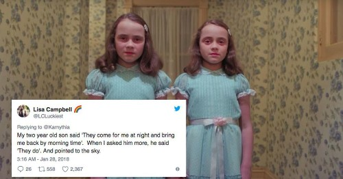 People are tweeting the creepiest things they've heard kids say and it's a full-on nightmare fest