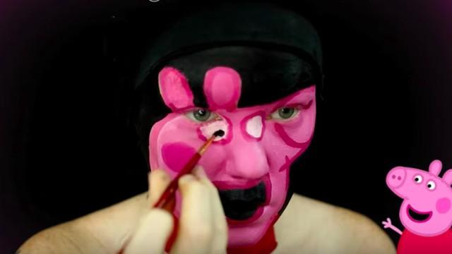 Peppa Pig makeup tutorial is a new breed of nightmare