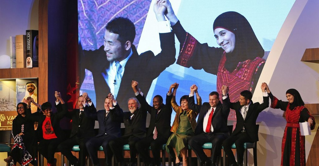 Palestinian teacher who grew up in refugee camp takes home $1 million Global Teacher Prize