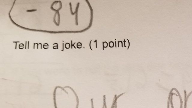 7th grade boy nails his extra credit question by telling the best joke