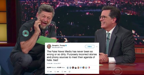 Andy Serkis as Gollum reading Trump's tweets is as hilarious as you'd expect