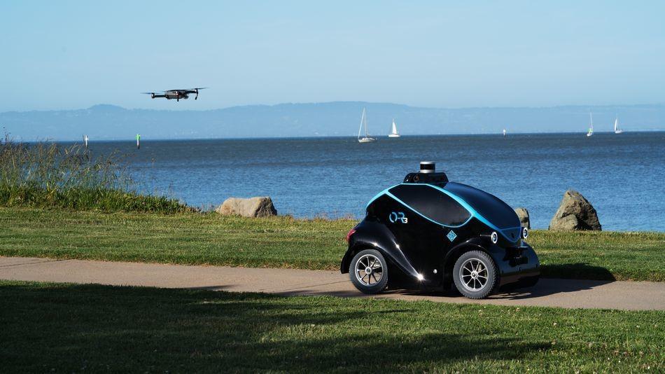 Autonomous robot security guard has a built-in drone to stop intruders