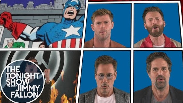 The 'Avengers: Endgame' cast sing a superhero version of 'We Didn't Start The Fire'