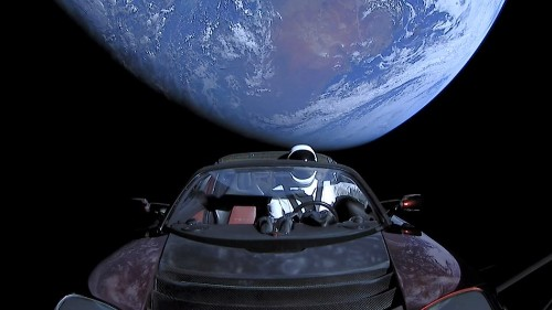 Astronomers spot Elon Musk's cosmic Tesla flying in space