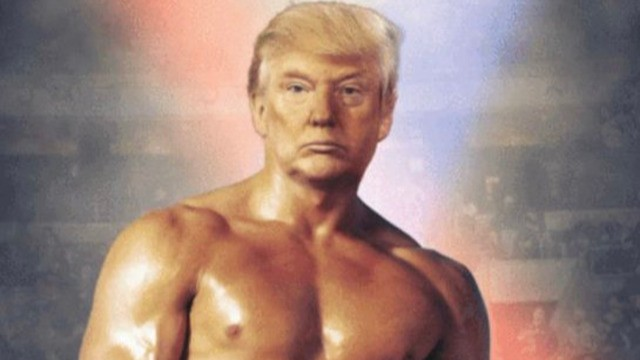Trump just tweeted a pic of his head on Rocky's shirtless body. What the hell is happening?