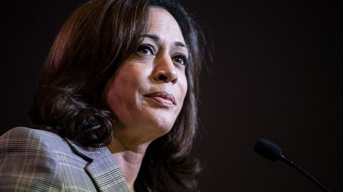 Kamala Harris says it's been 'strange' to see her waving hand moment become a meme
