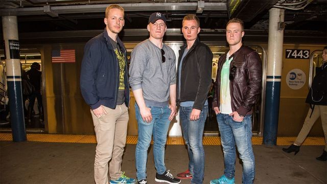 Alarmingly handsome Swedish cops break up New York subway fight