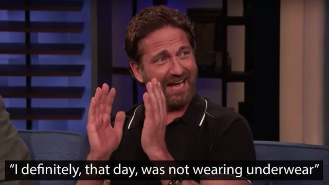 Gerard Butler's story of accidentally flashing 400 people is wonderfully awkward