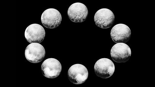A NASA spacecraft captured a day in the life of Pluto and its largest moon
