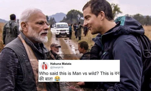 PM Narendra Modi's 'Man vs Wild' Episode Got Improvised And Adapted Into Hilarious Memes!