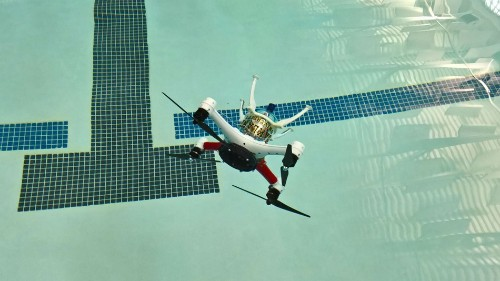 Loon Copter is a drone that can fly and go underwater