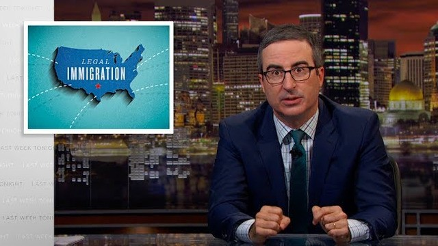 John Oliver breaks down the issues with immigration, shares his own story