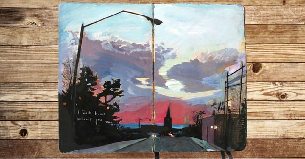Traveling artist paints breathtaking scenes in her Moleskine journals