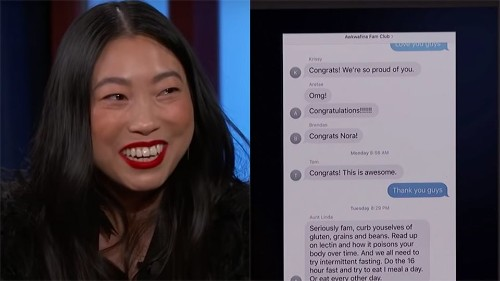Awkwafina Shares The Bizarre Text Message Her Aunt Sent Her After Golden Globes Nominations - Entertainment