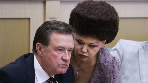 It is hard to look away from this Russian senator's hair