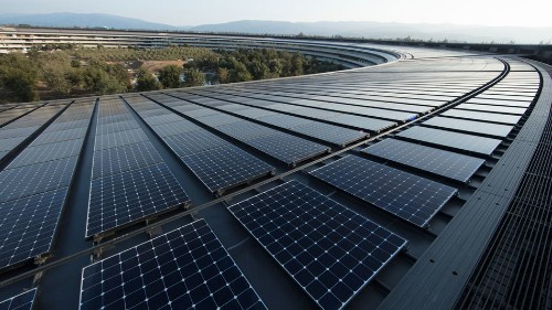 Apple facilities now use 100 percent clean energy