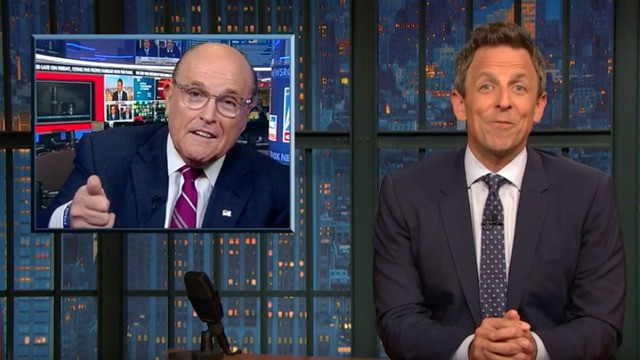 Seth Meyers rounds up the weirdest Rudy Giuliani TV moments of impeachment season (so far)