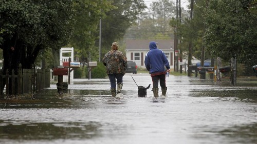 Thousand-year rains underway in Carolinas, potentially leading to deadly flooding