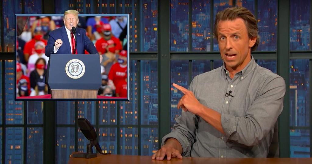 Seth Meyers bluntly blasts Republicans for blaming Trump's failures on Biden