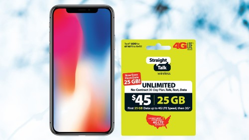 Get an iPhone X and free Straight Talk airtime for less than $750
