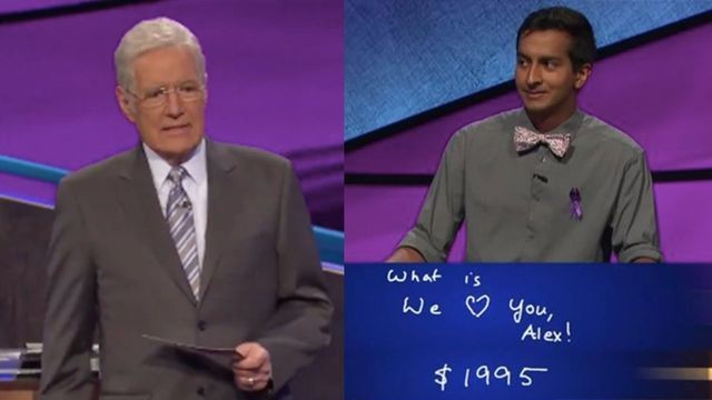 'Jeopardy!' contestant surprises Alex Trebek with heartfelt message