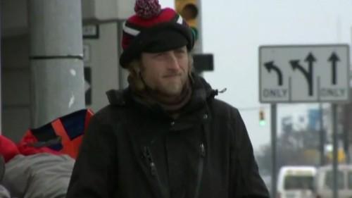 Homeless man now accepts VISA, Mastercard and American Express